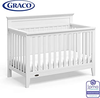 Graco Georgia 4-in-1 Convertible Crib (White) – Easily Converts to Toddler Bed, Daybed, and Full-Size Bed, 3-Position Adjustable Mattress Support Base, Rustic Style