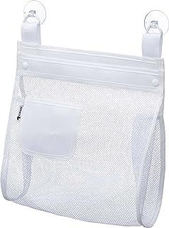 山崎実業 収納袋 お風呂おもちゃ袋 スクエア ホワイト 3367
