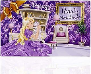 Calendario de Adviento de accentra para niñas con 24 maquillaje productos cosméticos y joyas para una época de Adviento v...
