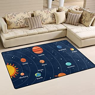 COOSUN Educational Solar System Orbits and Planets Area Rug Carpet Non-Slip Floor Mat Doormats for Living Room Bedroom 31 ...