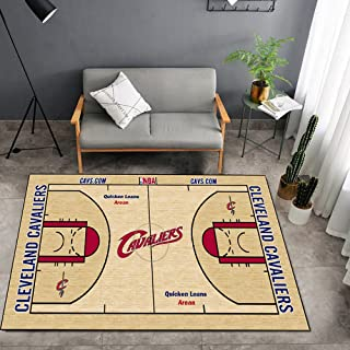 Tritow USA NBA Basketball Tapis NBA Cavaliers Court Salon Tapis antidérapant Facile à Nettoyer Tapis de Zone d'impression ...
