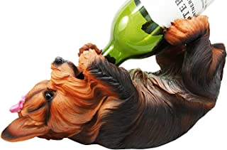 """Best Ebros Yorkie Canine Dog Wine Bottle Holder Figurine 10.5"""" Long Yorkshire Terrier Statue Wine Caddy Party Hosting Decor Review"""