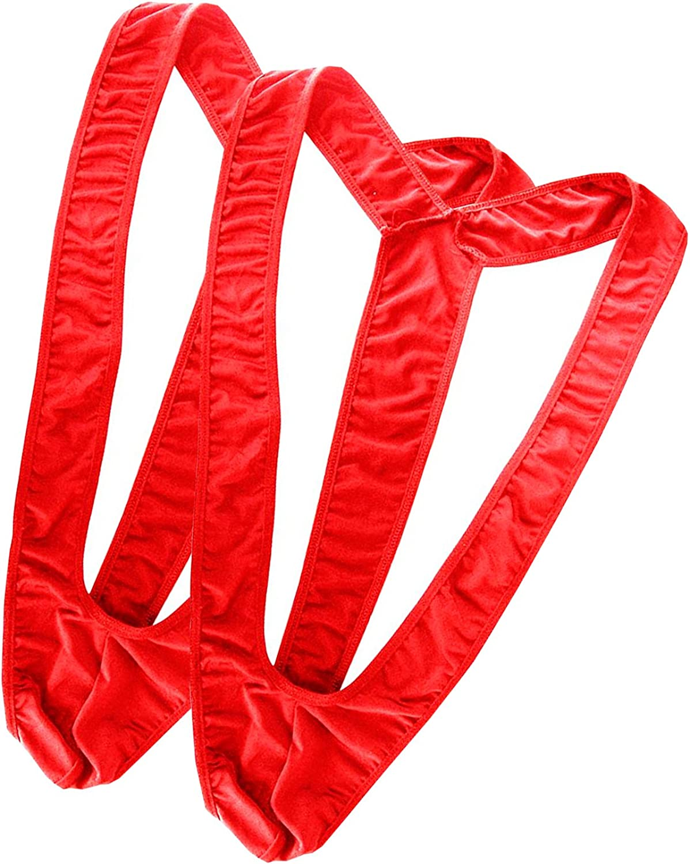 Oludkeph Set Of 2 Mens Borat Mankini Underwear Costume Swimsuit Thong Halloween