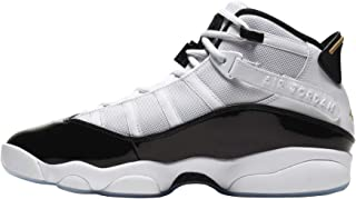 Jordan Air Men's 6 Rings Sneaker White/Black/Metallic Gold
