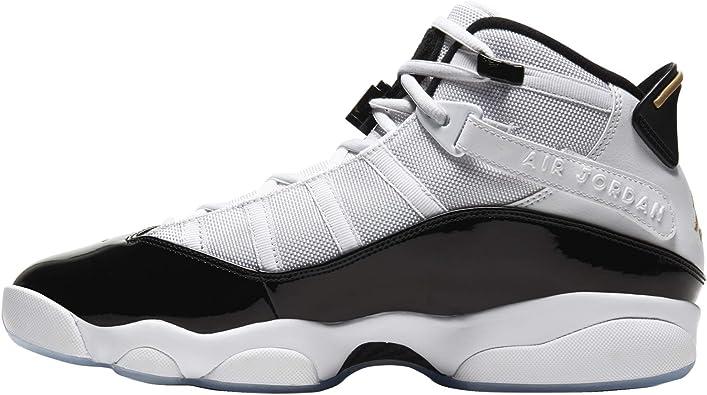 Jordan Air Men's 6 Rings Sneaker White/Black/Metallic Gold