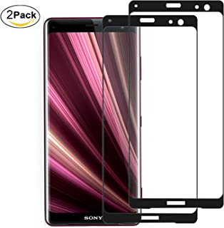 Aidinar Sony Xperia XZ3 skärmskydd (2 pack) 9H hårdhet, beröringskompatibel, bubbelfri, anti-fingeravtryck skottsäkert skä...