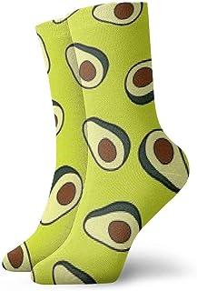 yting, Novedad Cool Crazy Funny Calcetines de vestir - Patrón de aguacate Calcetines de fondo amarillo - Regalos para hombres y mujeres