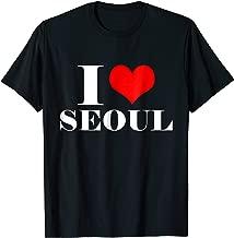 I Love Seoul T Shirt , I Heart Seoul Tee Korea Shirt
