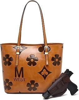 Large Tote for Women Concealed Handgun Carry Shoulder Bag Monogram Handbag Laptop Bag
