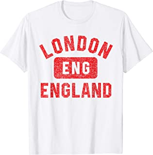 London ENG Gym Style Distressed Red Print T-Shirt