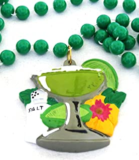 Margaritta Shaker of Salt Mardi Gras Bead Necklace Spring Break Cajun Carnival Margarittaville Festival New Orleans Beads