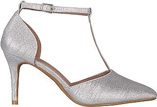 KRISP Women Ladies Pointed High Heels Wedding Bridesmaid Bridal Evening Court Shoes