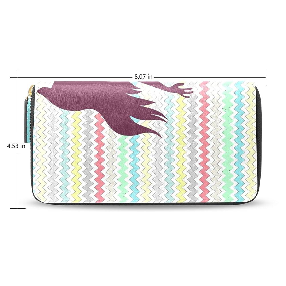 ズームレンドそしてレディースマーメイドパターンレザーロングウォレット&財布ケースカードホルダー