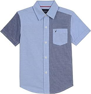 Nautica Boys' Short Sleeve Gingham Woven Shirt