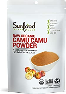 Sunfood Superfoods Camu Camu Powder. Raw, Organic. 100% Pure Super-Berry. Highest Quality. No Fillers or Additives. Great ...