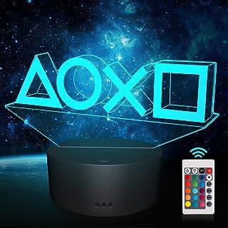 Illusion-Nachtlicht 3d, Playstation Lampe, 16 Farben Funktion-USB-Lade, Benutzt für Zimmer Deko, Kinder Männer Weihnachten...