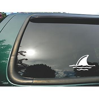 Die Cut Vinyl Window Decal//sticker for Car or Truck 3.5x6 Shark Fin in Water