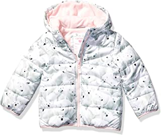 Girls' Fleece Lined Puffer Jacket Coat
