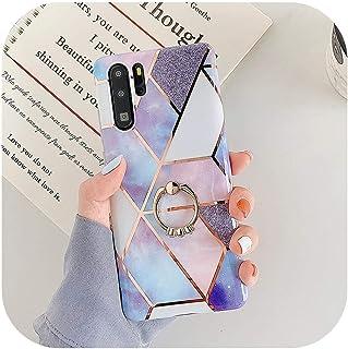 Z電着幾何学的大理石電話ケースfor Huawei P20 P30 Pro Mate 30 20 LiteリングキックスタンドソフトIMD電話バックカバー-j-for Huawei P30 Pro