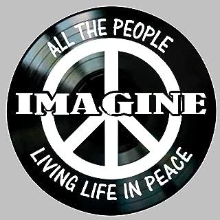 Imagine Song Lyric Art inspired by Beatles John Lennon Vinyl Record Album Wall Decor