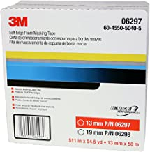 3M Soft Edge Foam Masking Tape, 06297, 13 mm x 50 m