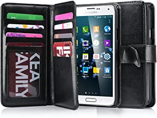 Galaxy S5 Case, S5 Wallet Jwest PU Leather Multi Card Slots Series Magnetic Wallet Case Cover for Samsung Galaxy S5 SV Galaxy S V i9600- Black