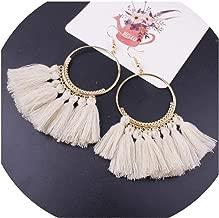 Bohemian Handmade Earrings For Women Boho Style Woman Tassel Earring Female Jewelry Bridal Fringed Vintage Long Earrings Gifts