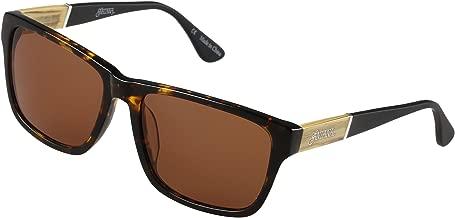 SANTANA Noble 102p Tort Polarized Round Sunglasses, Tortoise Shell, 58 mm