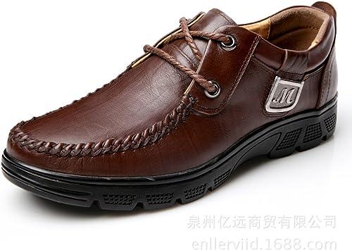 GTYMFH Encaje Cuero Calzado De Hombre Calzado Informal Hombre Negocios Calzado Calzado