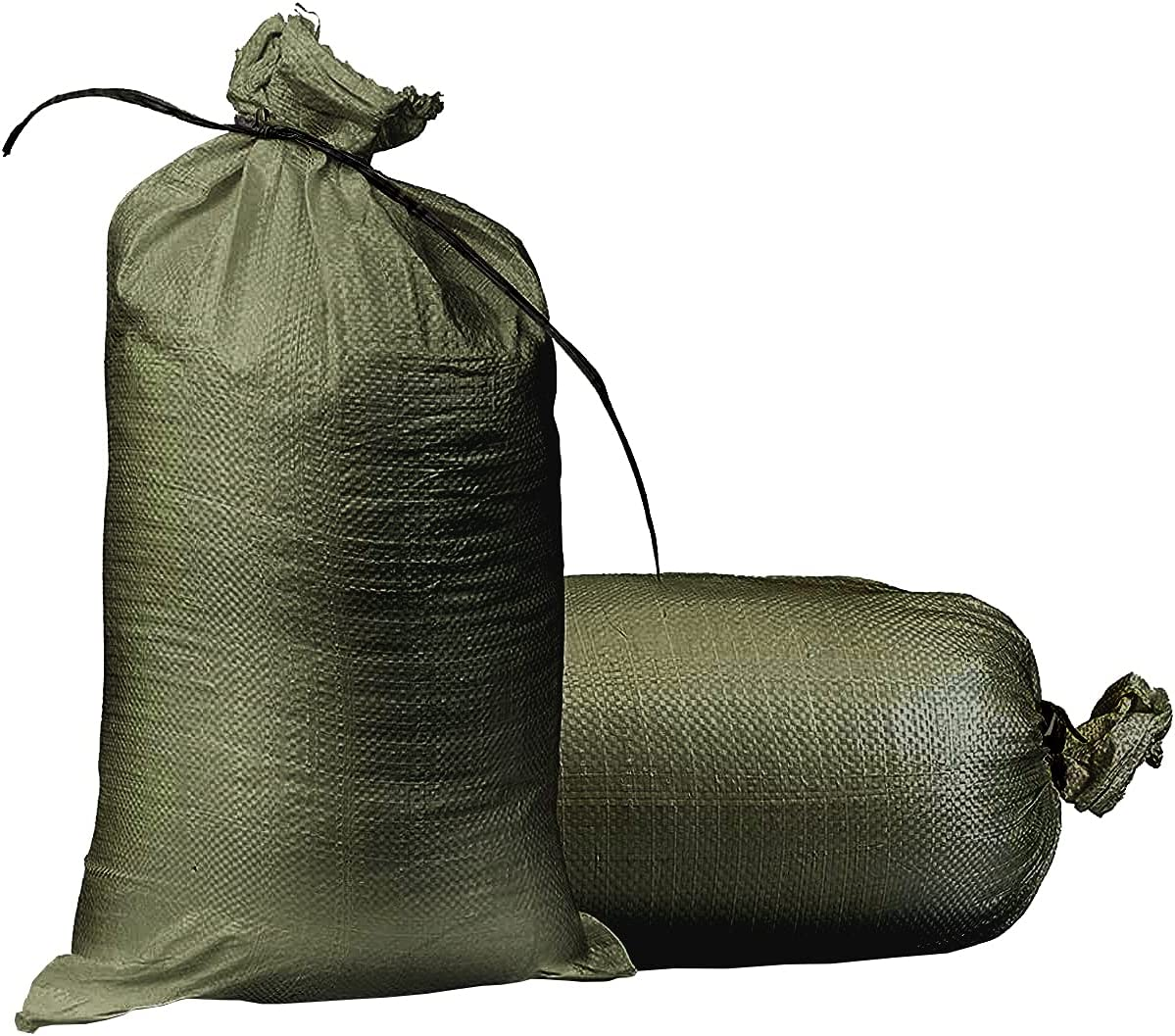 Empty Sandbags Military Green with Ties Woven 14