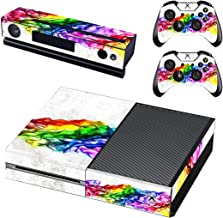 FOTTCZ Xbox One Skin Whole Body Vinyl Sticker Decal Cover for Microsoft Xbox One Console and Two Controller - Rainbow Band