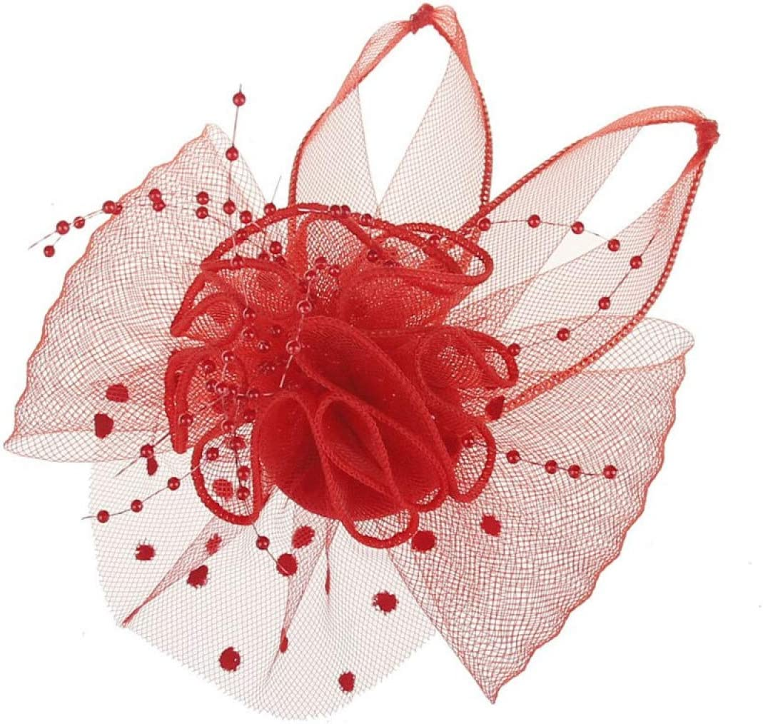MELLOW SHOP Fascinator for Women Hair P Dot Flower Clips Very popular Feather Beauty products