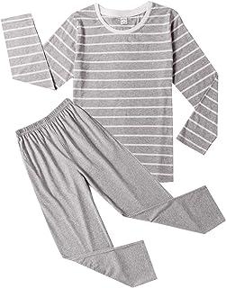 Big Boys Fashion Strips Loose Cotton Pajama Set Pants Shorts Top Sleepwear 8-17Years