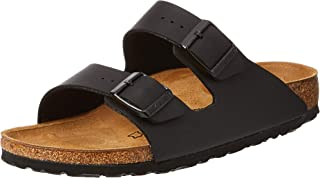 Birkenstock Unisex Arizona Black Sandals - 39 EU Narrow