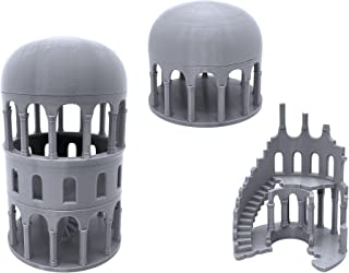 EnderToys Greek Ruined Buildings Bundle, Terrain Scenery for Tabletop 28mm Miniatures Wargame, 3D Printed and Paintable