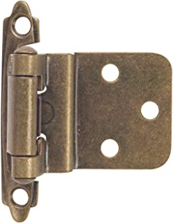 Hardware House 64-2496 3/8-Inch Inset Mount Cabinet Hinge, 2-Pack, Classic Bronze