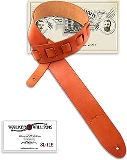 Walker And Williams SL-115 Rich Honey Tan Full Grain Soft Italian Leather Natural Finish Strap