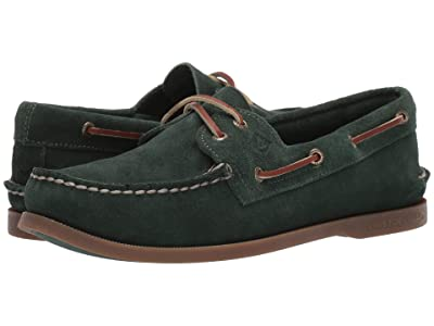 Sperry A/O 2-Eye Suede (Olive 1) Men