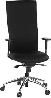 hjh OFFICE 710500 silla de oficina OFFICE-TEC tejido negro silla escritorio alta gama