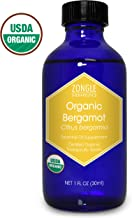 Zongle USDA Certified Organic Bergamot Essential Oil, Safe To Ingest, Citrus Bergamia, 1 OZ