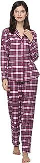 Writtian Schlafanzug Damen Lang Schlafoverall Strampler Einteiler Pyjama Baumwolle Thermo Unterw/äsche Stretch Nachtw/äsche Thermow/äsche Jumpsuit Hausanzug Langarmshirt