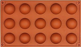 Wady Moule à Chocolat Forme Rond en Silicone Marron 15 Trous