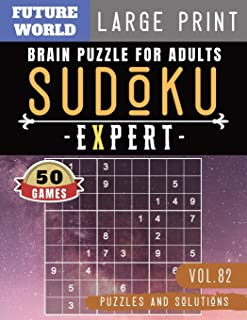 Sudoku Expert: Brain games for adults | Sudoku Extreme Hard game Sudoku Puzzles for memory for Brain Sharper and Sudoku Solver (Sudoku Puzzles Book Large Print)