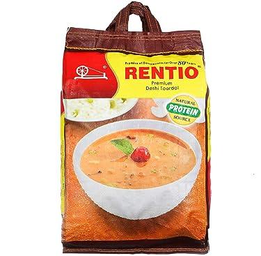 RENTIO Premium Deshi Toor Dal (Plain) 5 KG