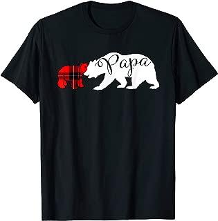 Papa Bear T-shirt Red Plaid Cub Grandpa Christmas Tshirt