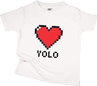 The Spunky Stork Yolo Video Game Heart Organic Cotton Toddler T Shirt