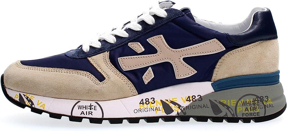 Premiata mick scarpe sportive sneakers per uomo in pelle p-1069671