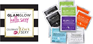 New in Box - GlamGlow HELLO SEXY - 12 Peice Kit - 2 YOUTHMUD, 2 SUPERMUD, 2 THIRSTYMUD, 2 POWERMUD, 2 FLASHMUD and 2 GRAVITYMUD in clear handy travel Retail C