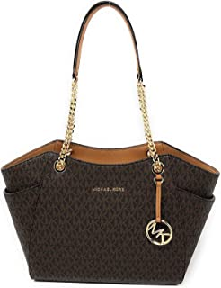 569bd0e35e19 MICHAEL Michael Kors Women's Jet Set Travel Saffiano Large Chain Shoulder  Tote, Style 35T5GTVT3L (
