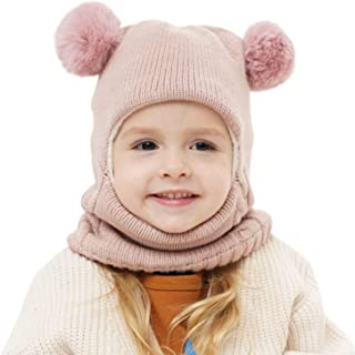 Baby Winter Hat Scarf Mitten Set, Unisex Infant Toddler Kids Hat Scarf